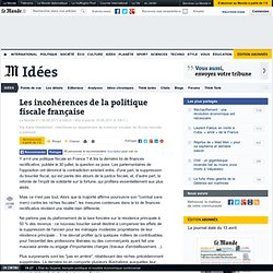 Les incohérences de la politique fiscale française
