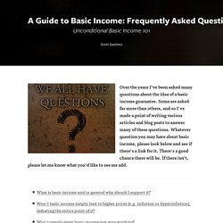 A Guide to Basic Income: Frequently Asked Questions about UBI