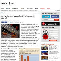 Study: Income Inequality Kills Economic Growth