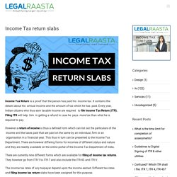 Income Tax return slabs - LegalRaasta ITR return knowledge portal