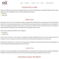 Income Tax In India
