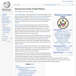Income tax in the United States