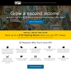 Grow a Second Income™ with the world's #1 affiliate program