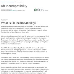 Rh Incompatibility: Symptoms, Diagnosis & Treatments