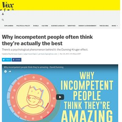 Why incompetent people often think they're actually the best