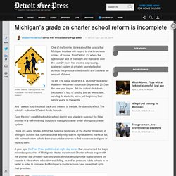 Incomplete: Michigan's grade on charter school reform