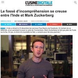 Le fossé d'incompréhension se creuse entre l'Inde et Mark Zuckerberg