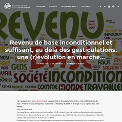 Revenu de base inconditionnel et suffisant, au delà des gesticulations, une (r)évolution en marche... – Mouvement Français pour un Revenu de Base