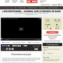 Pick & Boost - L'inconditionnel - journal sur le revenu de base
