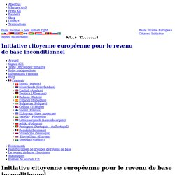 Initiative citoyenne européenne pour le revenu de base inconditionnel - European Initiative for Basic Income