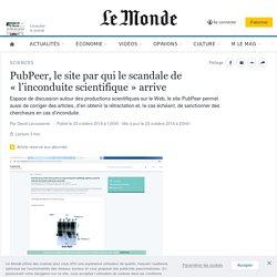 PubPeer, le site par qui le scandale de «l'inconduite scientifique» arrive