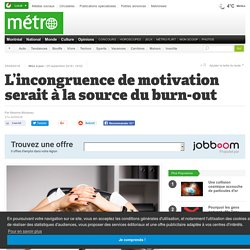 L'incongruence de motivation serait à la source du burn-out