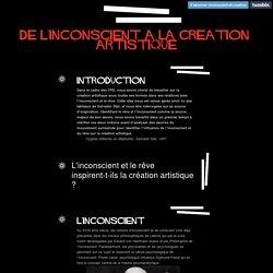 De l'inconscient a la creation artistique