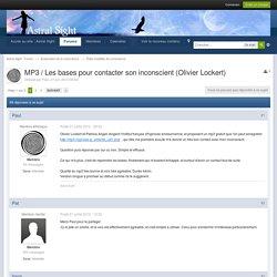 MP3 / Les bases pour contacter son inconscient (Olivier Lockert) - États modifiés de conscience