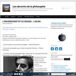 L'INCONSCIENT ET LE SEXUEL / LACAN