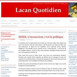 ZIZEK, L'inconscient, c'est la politique