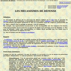 mecanisme defense processus psychique inconscient cours de psychologie definition psychologique