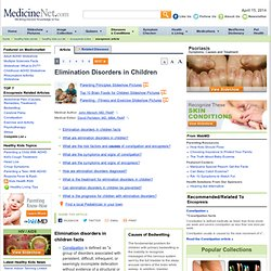 Encopresis (Fecal Incontinence) Causes, Symptoms and Treatment on MedicineNet