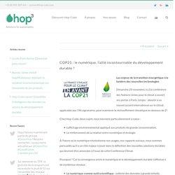 COP21 : le numérique, l'allié incontournable du développement durable ? - Hop-Cube - groupe GreenFlex