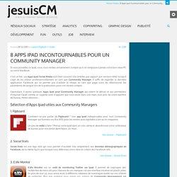 8 Apps Ipad incontournables pour un Community Manager