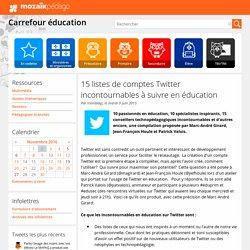 15 listes de comptes Twitter incontournables à suivre en éducation