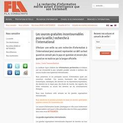 Fla consultants - Les sources gratuites incontournables pour la veille / recherche à l'international