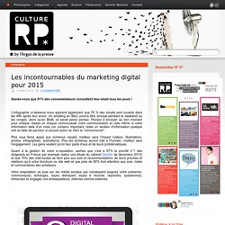 Les incontournables du marketing digital pour 2015
