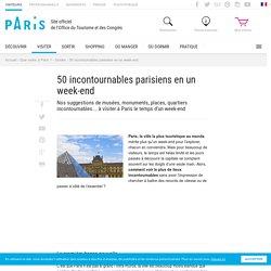 50 incontournables parisiens en un week-end - Office de Tourisme de Paris
