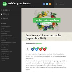 Les sites web incontournables (septembre 2016)
