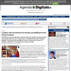 AgendaDigitale - I maker che incontrano la Scuola: possibili percorsi d'innovazione