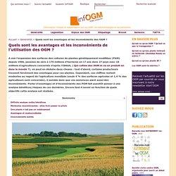 Avantages et inconvénients des OGM et des biotechnologies