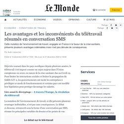 Les avantages et les inconvénients du télétravail résumés en conversation SMS