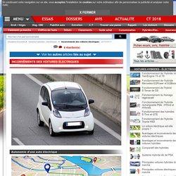Inconvénients voitures électriques