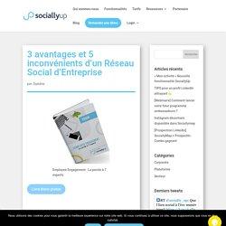 3 avantages et 5 inconvénients d'un Réseau Social d'Entreprise - SociallyUp