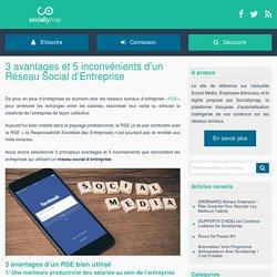 3 avantages et 5 inconvénients d'un Réseau Social d'Entreprise - Blog Sociallymap