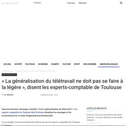 Avantages et inconvénients du télétravail par les experts-comptable de Toulouse