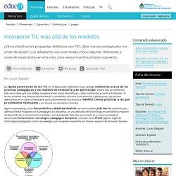 Incorporar TIC más allá de los modelos