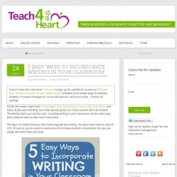 5 Easy Ways to Incorporate Writing in Your Classroom - Teach 4 the Heart