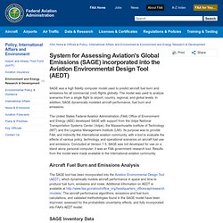 System for Assessing Aviation's Global Emissions (SAGE) incorporated into the Aviation Environmental Design Tool (AEDT)