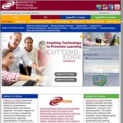 Assessment Technology, Incorporated: Home of Galileo Technology for Instructional Improvement