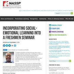 Incorporating Social-Emotional Learning Into a Freshmen Seminar