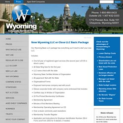 Details on Wyoming Incorporation and the Advantages over a Nevada Corporation