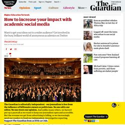 How to increase your impact with academic social media