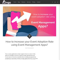 How to Increase your Event Adoption Rate using Event Management Apps?
