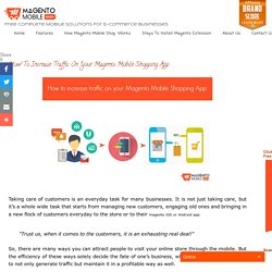 Magento Mobile Shopping App