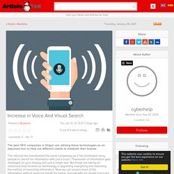 Increase in Voice And Visual Search Article - ArticleTed - News and Articles