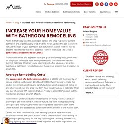 Increase Your Home Value With Bathroom Remodeling