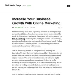 Increase Your Business Growth With Online Marketing.