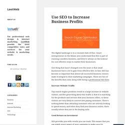 Use SEO to Increase Business Profits