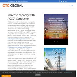 Increase the capacity of existing lines with CTC Global's ACCC Conductor